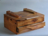 Stationery box in English Yew